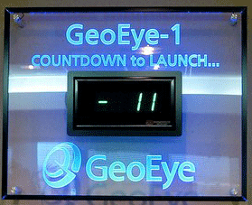GeoEye-1 Coundown Clock up for auction.