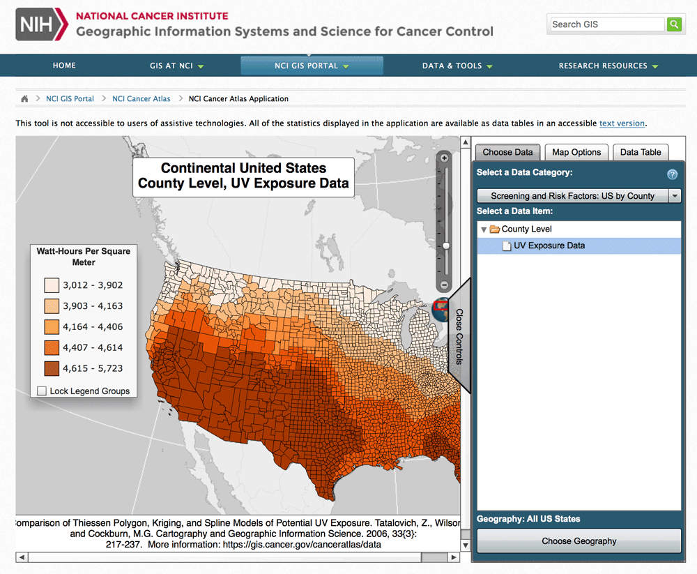 National Cancer Institute's Cancer Atlas
