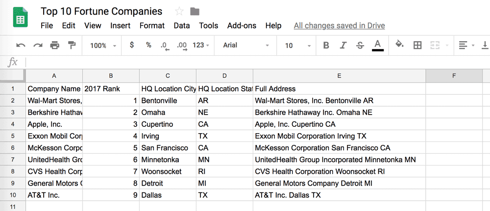 Google sheets new line in cell