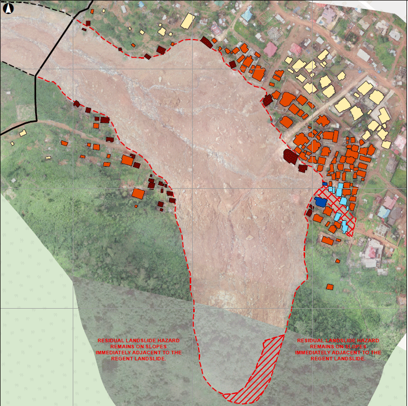 An assessment of more than 100 houses near the mudslide area revealed high risks of more mudslides and rock fall in the next rainy season. (Source: World Bank)