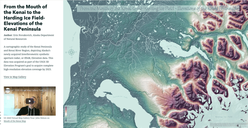 Esri Cartographers have selected a few of their favorite maps from this year's Esri UC Virtual Map Gallery.