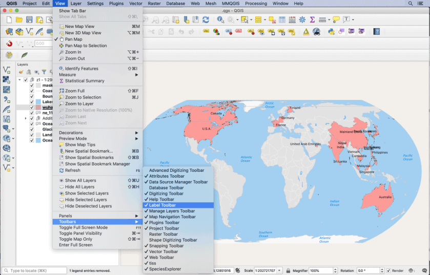 QGIS is a  very popular popular open source GIS software.