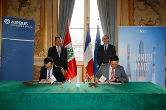 Airbus Defence and Space has chosen Arianespace to launch PeruSat-1
