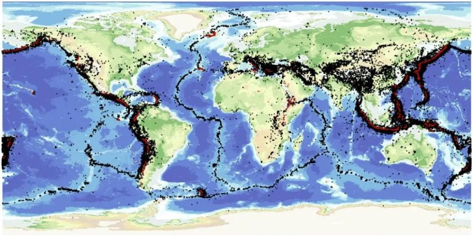 world earthquake map - GIS Resources