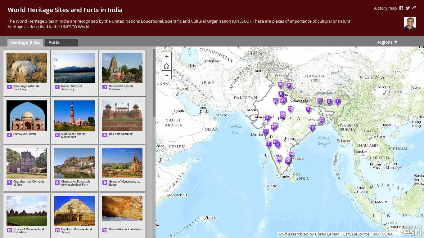 unesco world heritage site india map - HD 1366×768