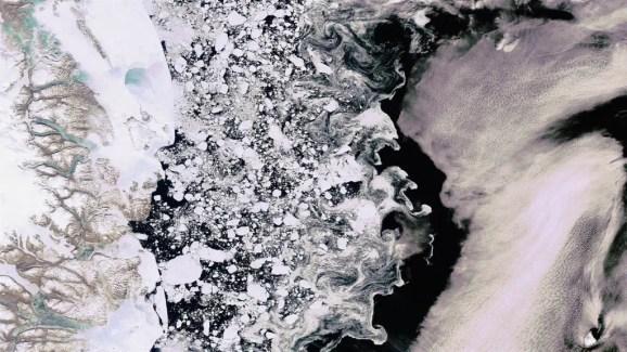 Sea ice in the Arctic Credit: DLR