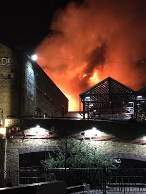 BREAKING: London Famous Camden Lock Market Goes Up In Flames