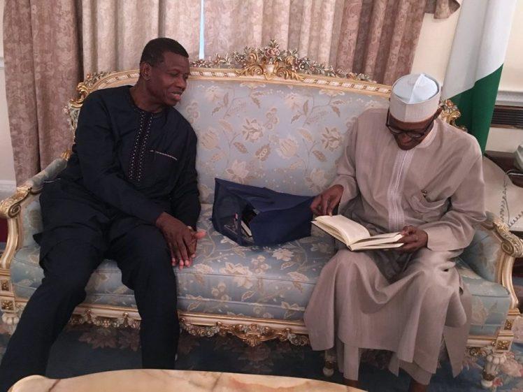 PHOTO NEWS!!!Pastor Adeboye Visits And Prays For President Buhari In London [Photos]