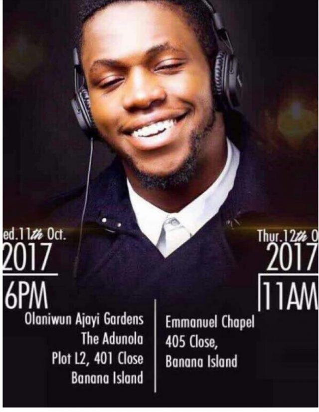 Davido's Friend, DJ Olu Burial Date Announced