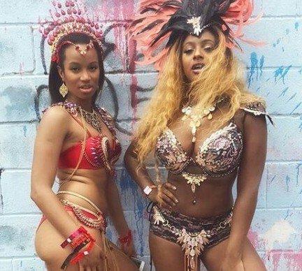 Mouth Dropping Photos of DJ Cuppy in Revealing Bikini At Trinidad & Tobago Carnival