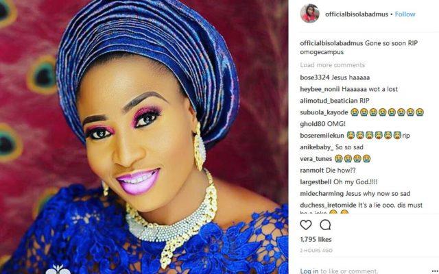 Popular Nollywood Actress, Aisha Abimbola 'Omoge Campus' Is Dead