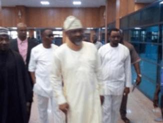 Photos of Dino Melaye Walking Majestically Into the Senate before Joining The PDP Senators Camp