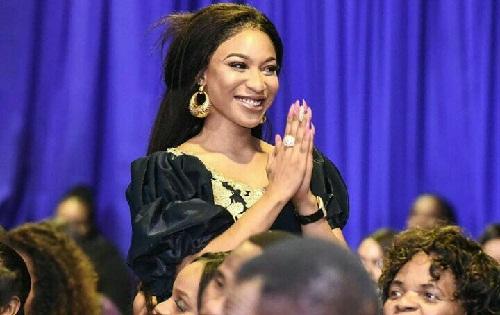 Nigerian Actress, Tonto Dikeh, Visits Pastor, Shepherd Bushiri's Church In South Africa