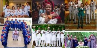 Wakanda Pose: The New Trending Pose At Nigerian Wedding Receptions [Photos]