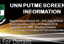 UNN Post 2018: UNN Post-UTME/DE Application Form Is Out
