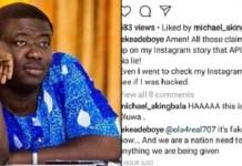 """""""It Is Fake News as Normal"""" Leke Adeboye Denies Viral Post about APC"""