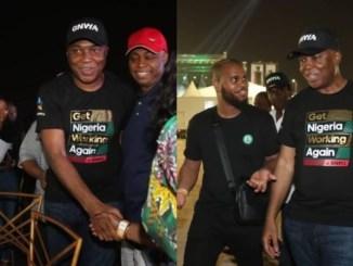 More Photos of Bukola Saraki at Davido's Concert in Lagos