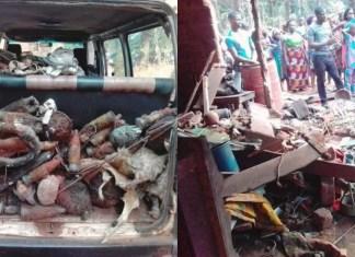 Popular Priestess of Inyama Ogbanje Repents, Denounces Her Fetish Practices in Enugu [Photos]