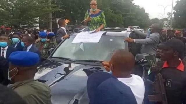 Mrs Cecilia Ezeilo, Enugu State Deputy Governor joins #ENDSARS Protest