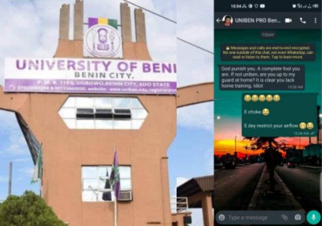UNIBEN: Nigerian University Spokesperson Hurls Insult At Student
