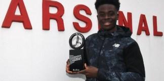 2021 London Football Awards: Arsenal winger, Bukayo wins Young Player of the Year