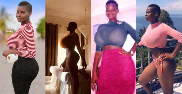 Meet 22-year-old Ghanaian model with extra ordinary hourglass shape (Photos/Video)