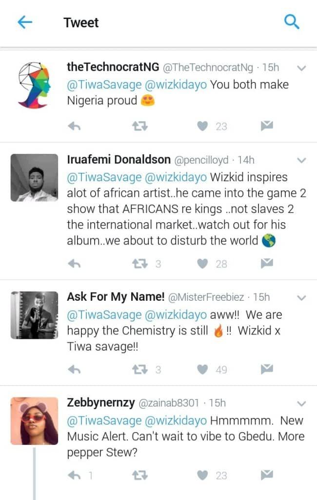 Celeb Gossips: 'You Inspire Me So Much Lion' Tiwa Savage Tells Wizkid