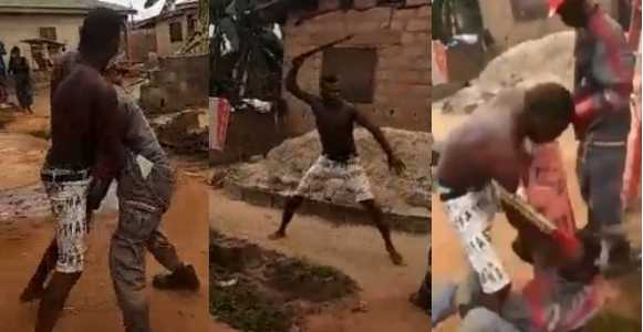 Image result for Man fights PHCN official with machete over light disconnection in Lagos