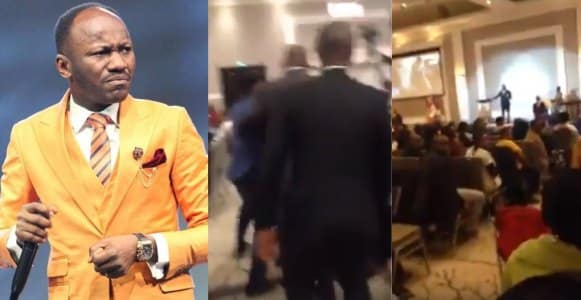 Man verbally attacks Apostle Johnson Suleiman as he preached in a church in Canada (Video)