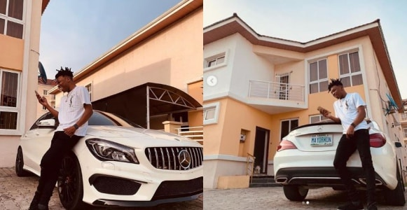 Mayorkun buys himself a brand new Mercedes-Benz CLA-Class (Photos)