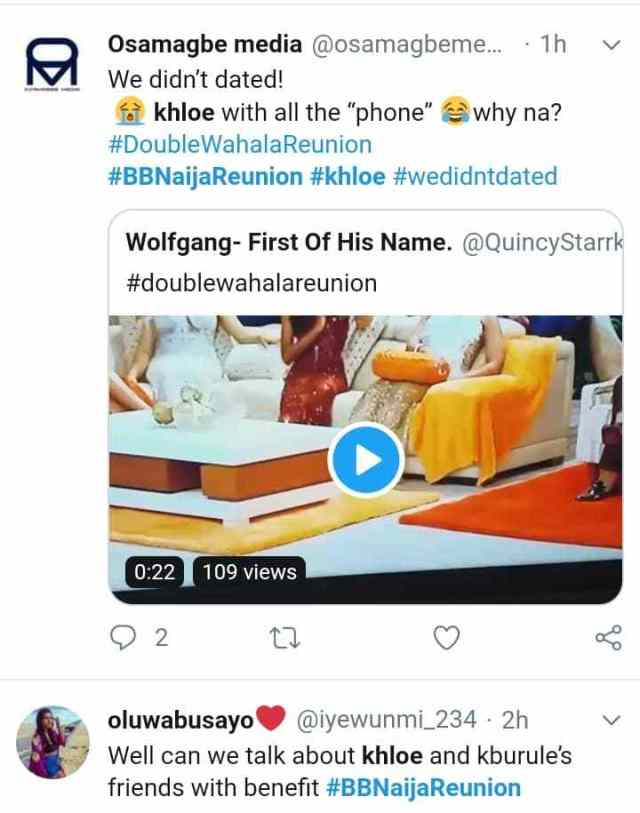 We didn't dated: Alex, Ifu Enada react as Khloe commits a grammatical blunder 2
