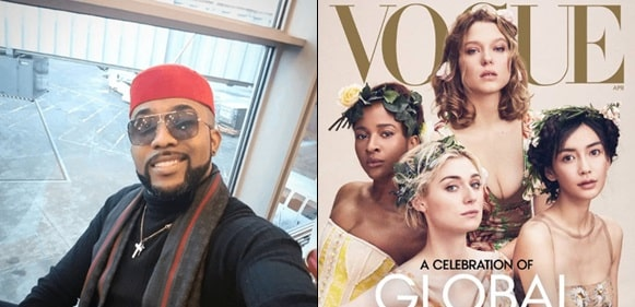 """""""Breaking news: My wife is on the cover of Vogue magazine"""" Banky W gushes"""