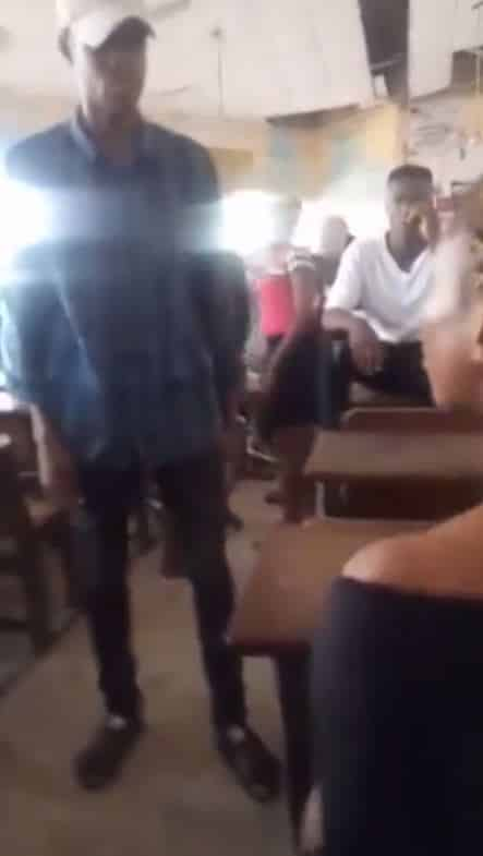 Video: Man beats up his girlfriend for dumping him after he paid N20k for her school fees 7