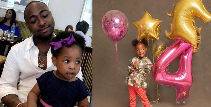 Davido celebrates 1st daughter, Imade on her 4th birthday