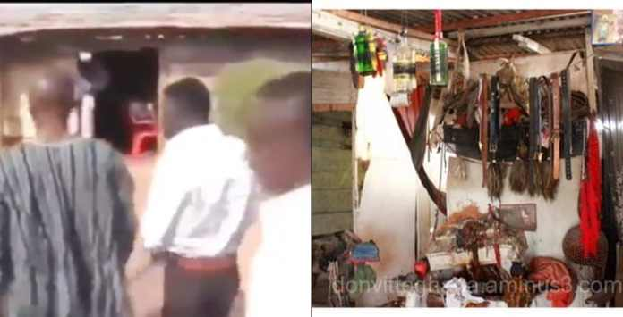 Herbalist Kwaku Bonsam storms church to collect his Juju from pastor