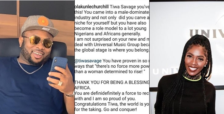 Olakunle Churchill Celebrates Tiwa Savage