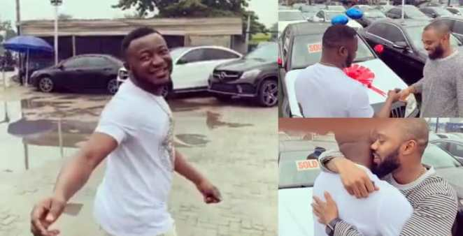 Mc Galaxy gifts T- Spice a Benz for producing 'SEKEM' for him five years ago