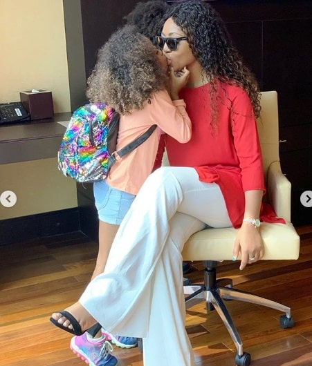 Actress Regina Daniels Shares Captivating Loved Up Photos With Hubby, Ned Nwoko In Matching Outfits