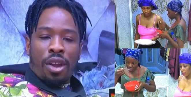 BBNaija: Drama as Ike sees Mercy's nakedness in the bathroom (Video)