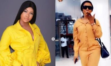 Tacha's fan attacks Mercy for wearing Tacha's look-alike Jumpsuit