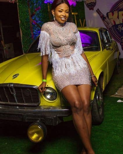 Ex-BBNaija housemate Cindy Okafor finally apologizes for not tagging her dress donors (Video)