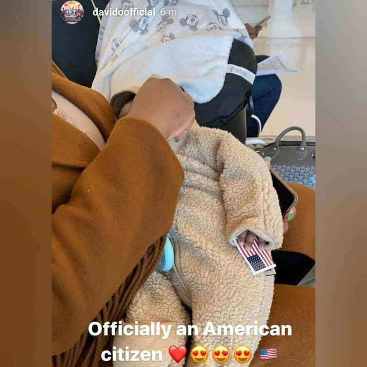 Davido and Chioma's son, Ifeanyi Adeleke Jnr officially becomes US citizen 2