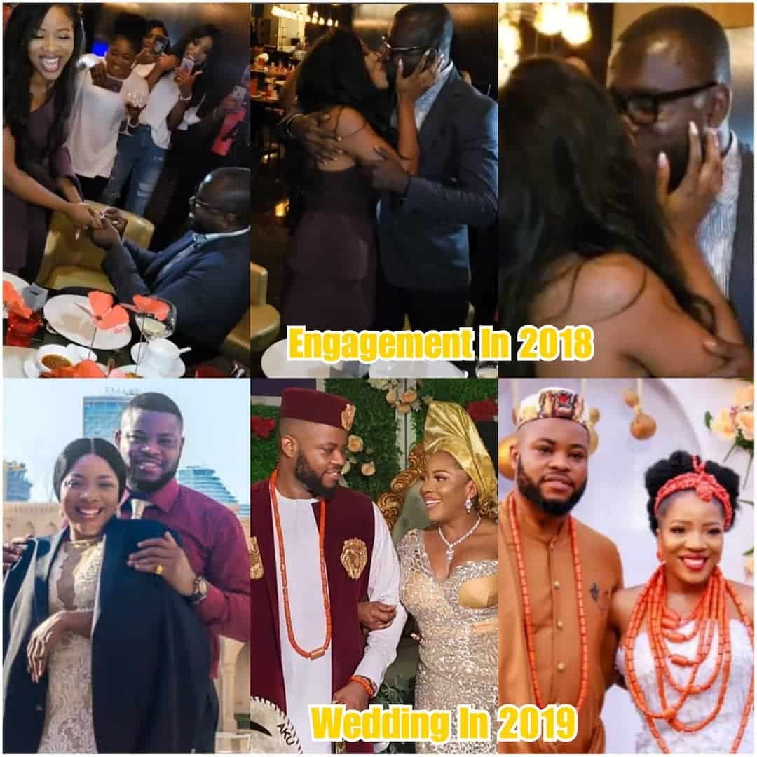 Photos shows Sandra Ikeji's 2018 engagement but married a different man