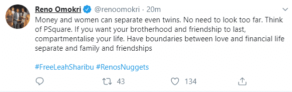 """VIRAL NEWS """"Money and women can separate even twins."""" – Reno Omokri 3"""