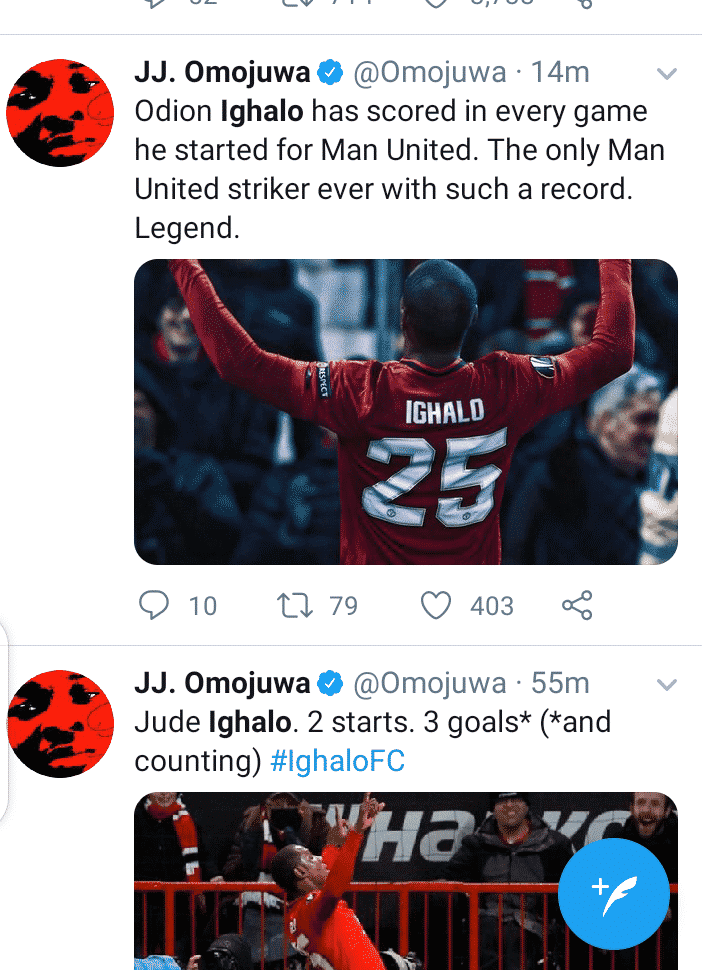 Social media users react after Odion Ighalo's brace against Derby County