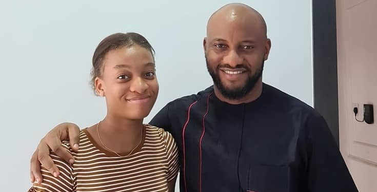 Yul Edochie has publicly celebrated his daughter who is 15 today, 10th of April. 38 year old Yul took to his Instagram page to pray for his daughter.