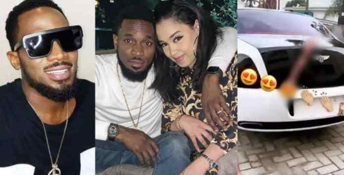 Singer, D'banj Buys His Beautiful Wife A Bentley