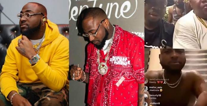 Watch the moment Davido snubbed a guy on IG Live (Video)