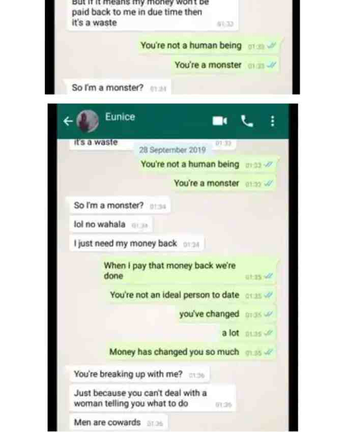 Lady blasts boyfriend for giving out her money to his family members 4