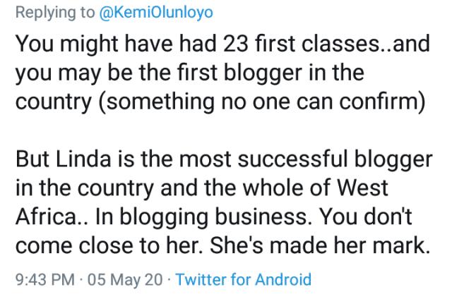 Kemi Olunloyo earns Facebook ban as Igbos drag her for calling their women least educated
